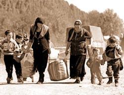 Люди-беженцы.