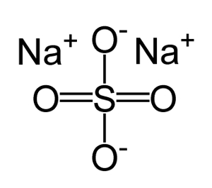 Формула Natrum sulphuricum.